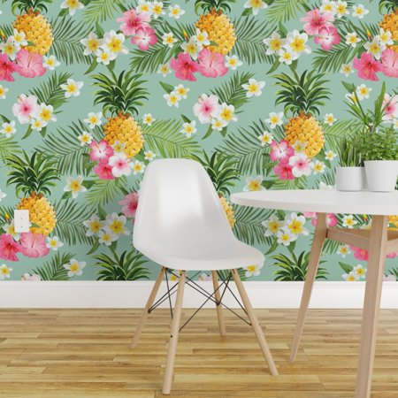 Peel and Stick Removable Wallpaper Tropical Pineapples Hawaiian Pineap