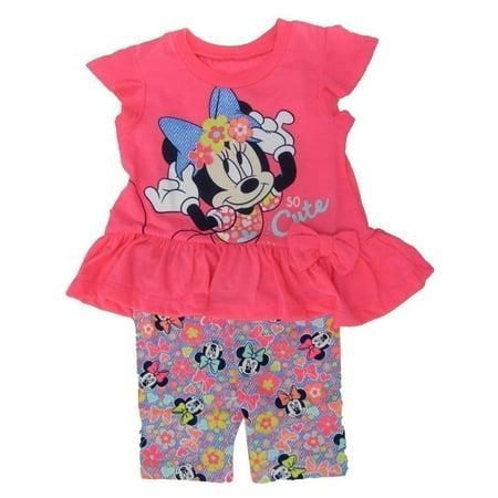 Disney Little Girls Neon Pink Minnie