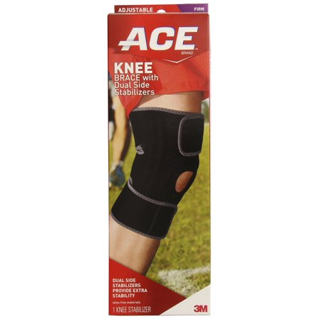 ACE Knee Brace with Dual Side Stabilizers, Adjustable, (Best Knee Brace Sleeve)