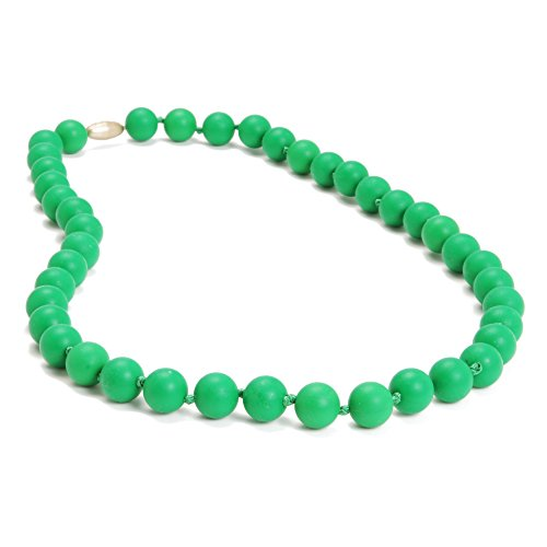 Chewbeads Silicone Rubber Necklace in Emerald Green