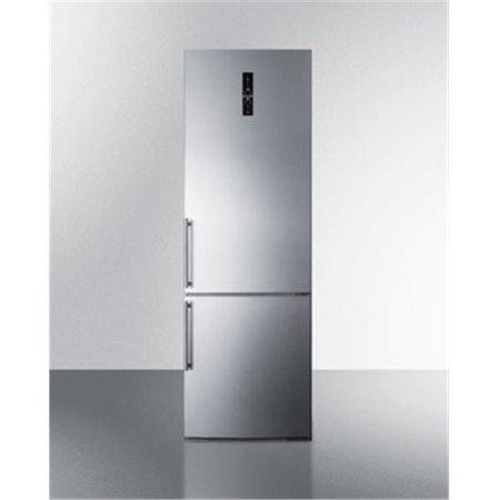 Summit Appliance FFBF249SS 24 in. Bottom Freezer Refrigerator, Platinum ()