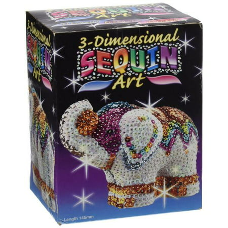 3D Sequin Art - Elephant Sparkling Arts and Crafts Picture Kit](Arts And Crafts Toys)
