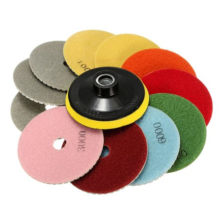 12PCS/Set 4 Inch Diamond Polishing Pads Wet/Dry  Kit Granite Concrete Marble Polishing Concrete Diamond Polishing Pad