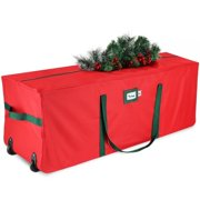 Christmas Tree Storage Bag - Fits Up to 8 Foot Disassembled Trees - Waterproof Heavy Duty Xmas Tree Box with Durable Reinforced Carry Handles, Heavy Duty Zipper & Wheels, Tear Proof 600D Oxford Fabric