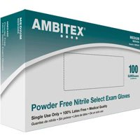 Ambitex Nitrile Select Exam Glove Powder-Free, Non-Sterile, Medium BX/100