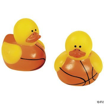 24-pc Mini Basketball Rubber Ducky Party Favors](Basketball Theme Party Favors)