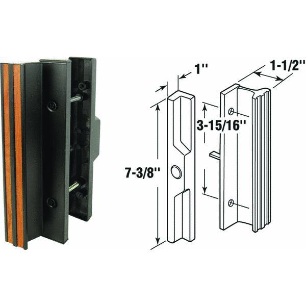 Prime Line Products 141642 Sliding Glass Patio Door Handle, Wood ...