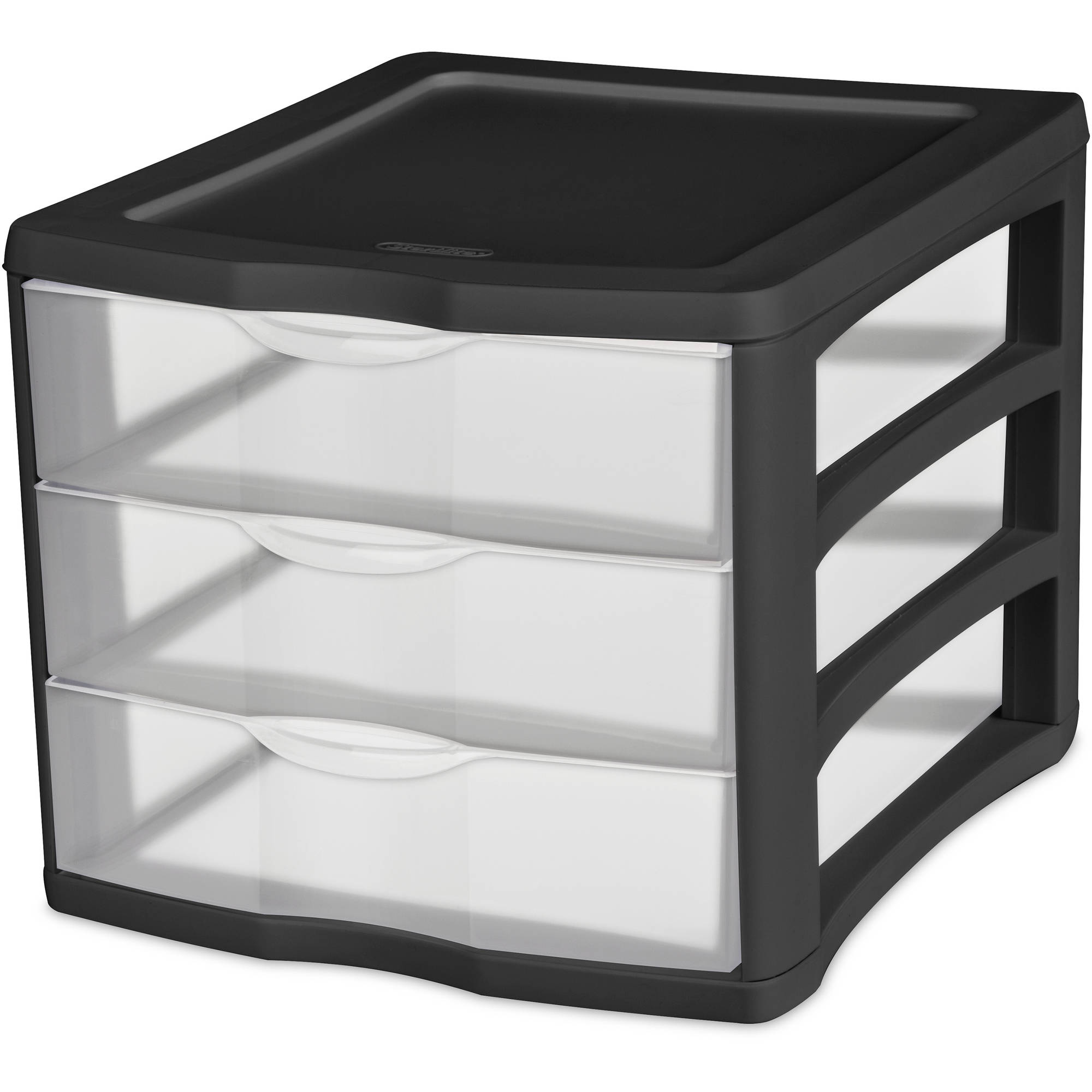 Sterilite 3 Drawer Desktop Unit- Black (Available in Case of 4 or Single Unit)
