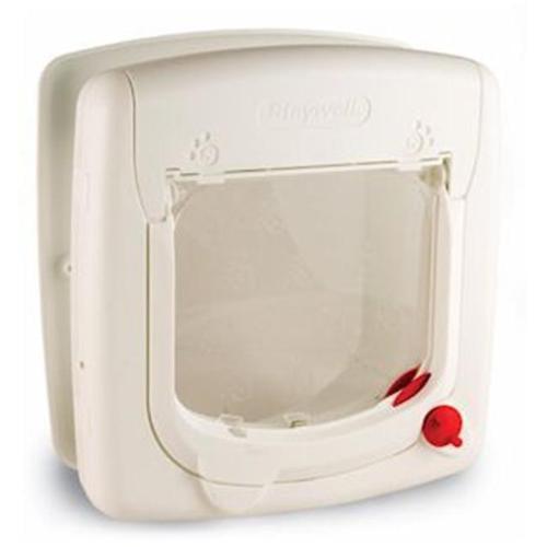 Pet Safe PPA00-11325 White Magnetic Cat Door with 4-Way Lock
