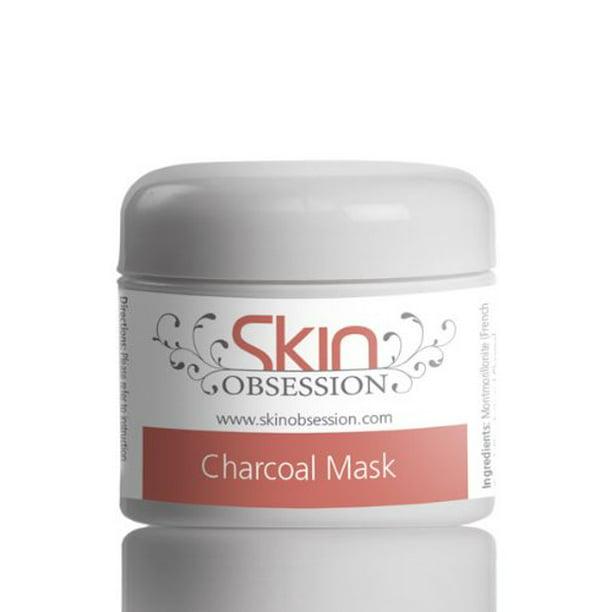 Skin Obsession Charcoal And Clay Facial Mask Natural Skin Care Acne Scars Prone Anti Aging Reduce Wrinkles Sunburn Blackheads Dark Spots Brightens Skin Glow Walmart Com Walmart Com