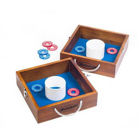Outdoor Toss Games (Bolaball Solid Wood All-Weather Washer Toss Game- Outdoor Family Horseshoes Style Game, Perfect for Parties, Camping,)