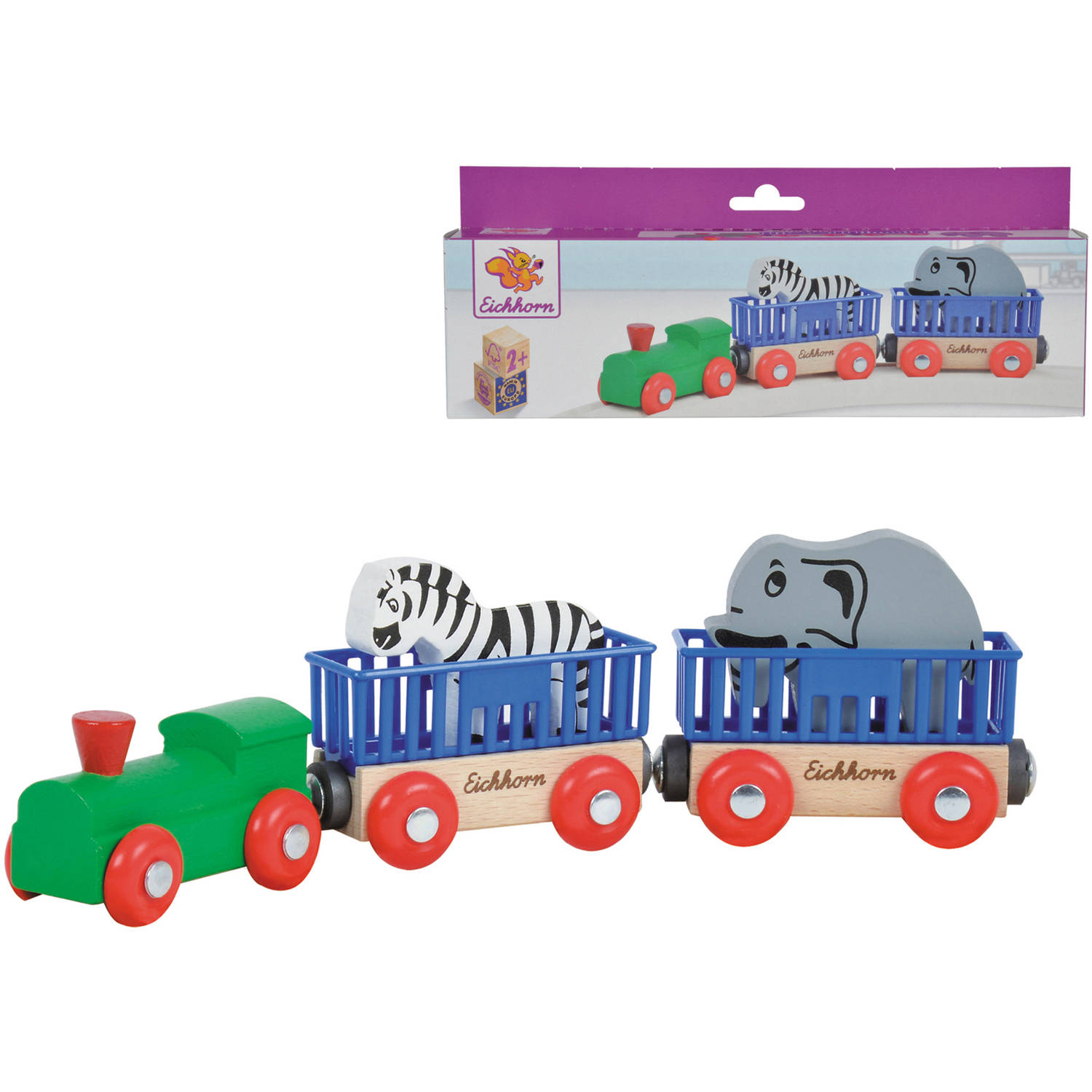 Eichhorn Train Wooden Animal Train Cars
