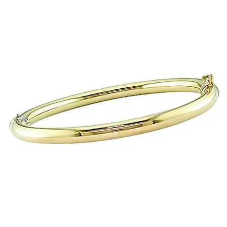 6f741dbdaf818 Overstock - 14k Two-tone Gold Bangle Bracelet - Walmart.com