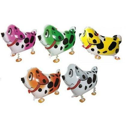 101 Dalmatians Party Supplies (MY BALLOON STORE® TM SET OF 5 DALMATIAN DOG WALKING BALLOONS AIR WALKER ANIMAL PETS HELIUM PARTY DECOR)