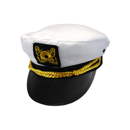 Child Ship Navy Officer Yacht Sea Skipper Admiral Kid Captain Hat Cap Costume](Captians Hat)