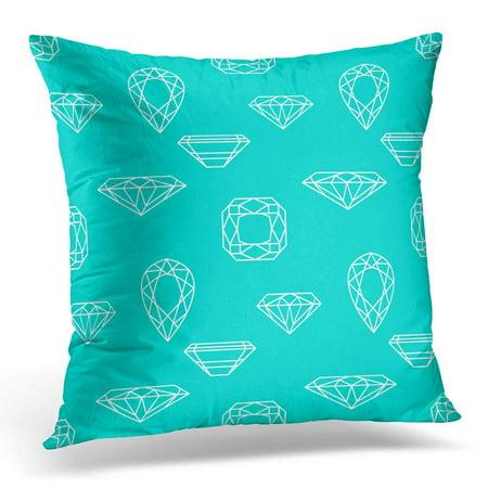 BOSDECO Blue Bright with Diamond Colorful Brilliant Pillowcase Pillow Cover Cushion Case 16x16 inch - image 1 de 1