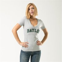 W Republic Game Day Womens Tee Baylor University, Heather Grey - Large