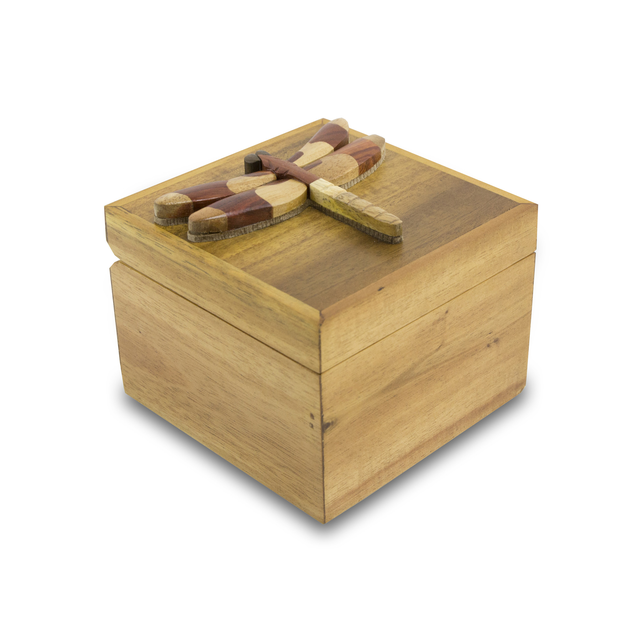 NEW! Intarsia Wood Cremation Keepsake Box - Dragonfly
