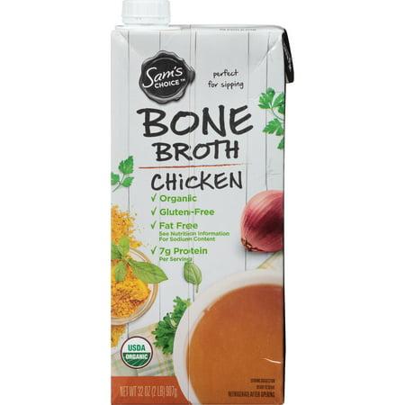 (6 Pack) Sam's Choice Organic Chicken Bone Broth, 32 (Labonte Stock)