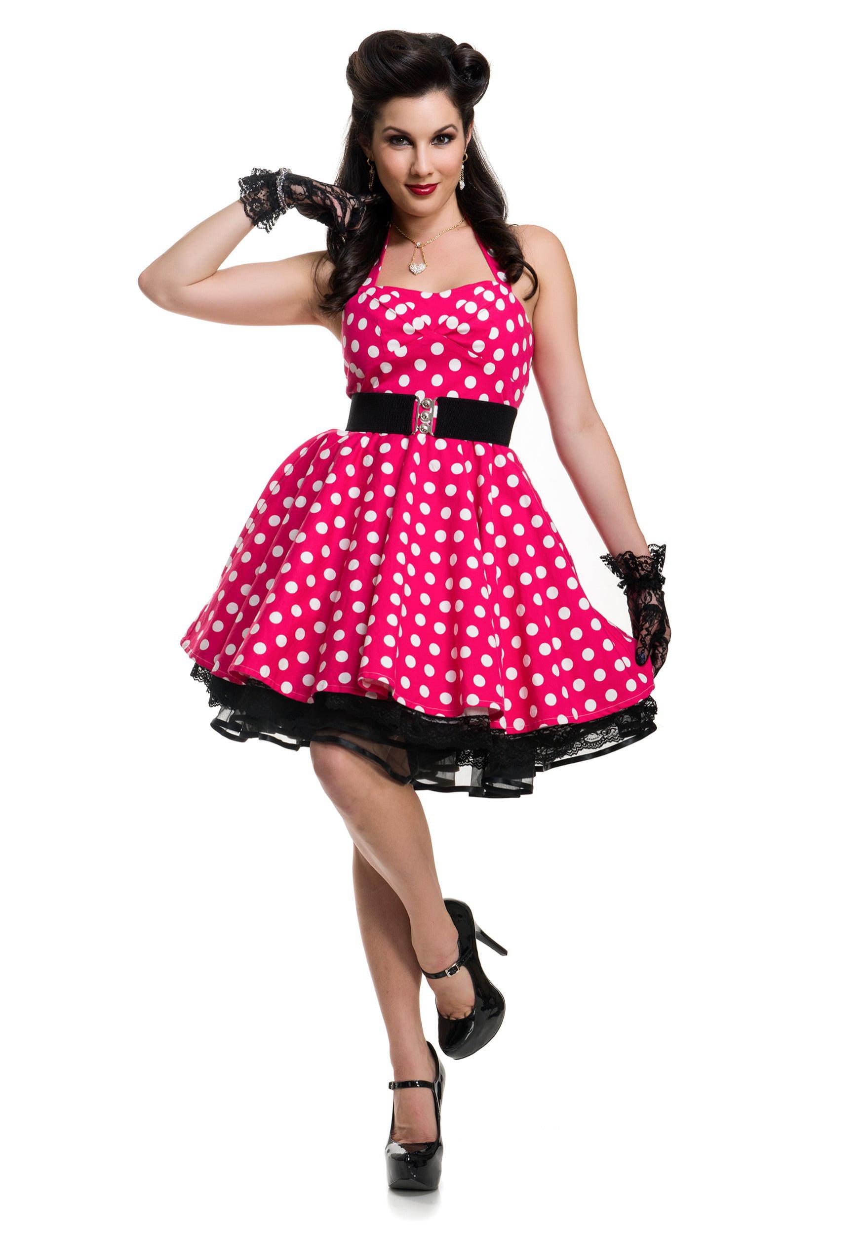 women's pink polka dot pin up costume - walmart
