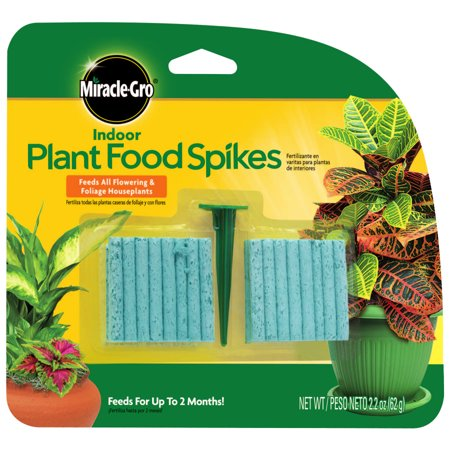 Miracle-Gro Indoor Plant Food Spikes - 48 spikes