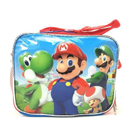 New Super Mario 3D Bros Insulated Lunch Box Bag Licensed Nintendo Luigi New - Super Mario Gift Bags