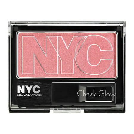 - New york color cheek glow powder blush 649 prospect park rose, 0.28 oz