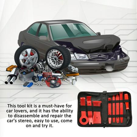 8pcs/set Trim Removal Tool Set Hard Plastics Auto Car Interior Dash Radio  Audio Repairing Tools Door Clip Panel Trim Open Removal Tools