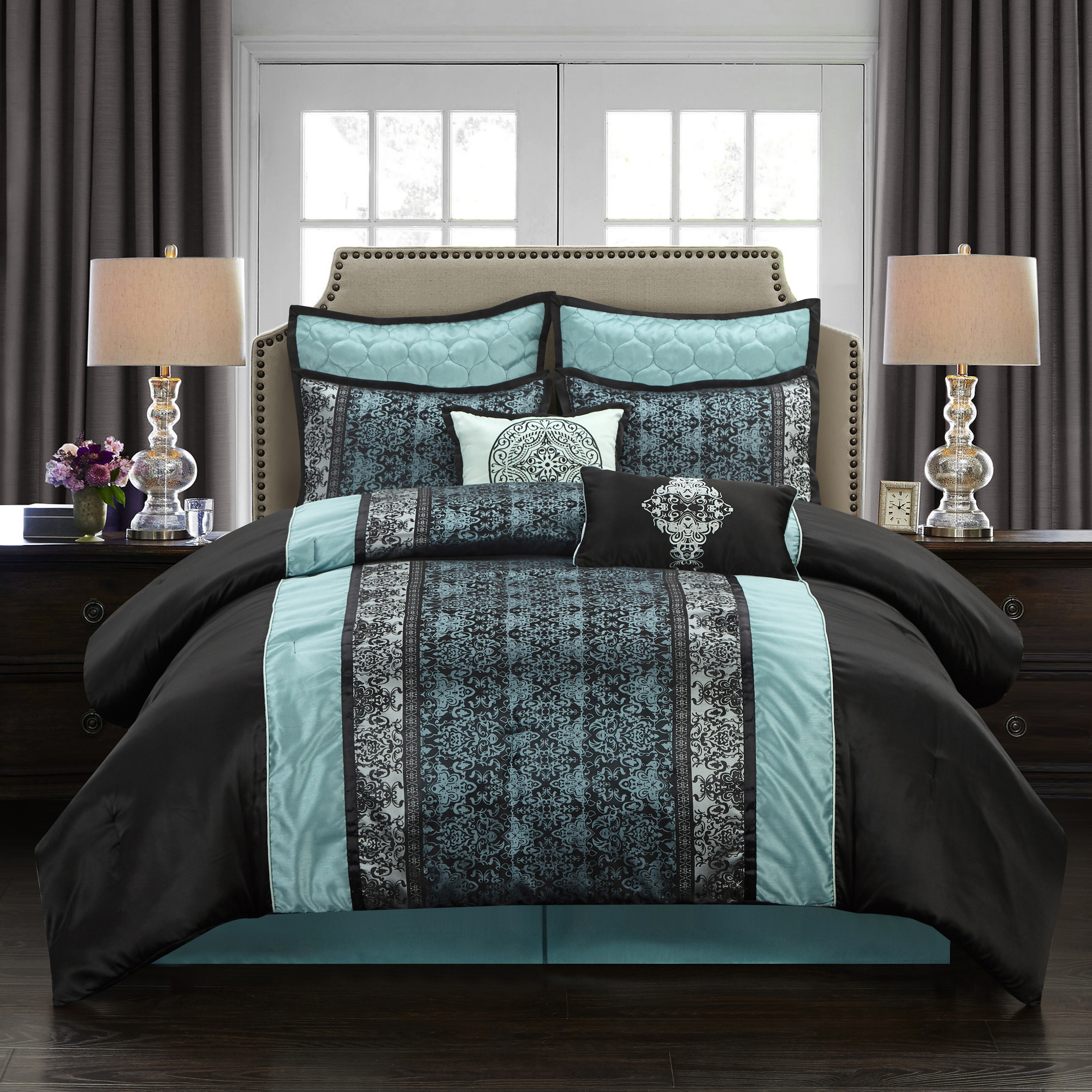 Stratford Park by Nanshing Arabesque 8-Piece Bedding Comforter Set by NANSHING AMERICA INC