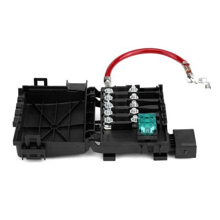 Qiilu Car Battery Fuse Box Holder Terminal for VW Jetta Golf Mk4 Beetle on