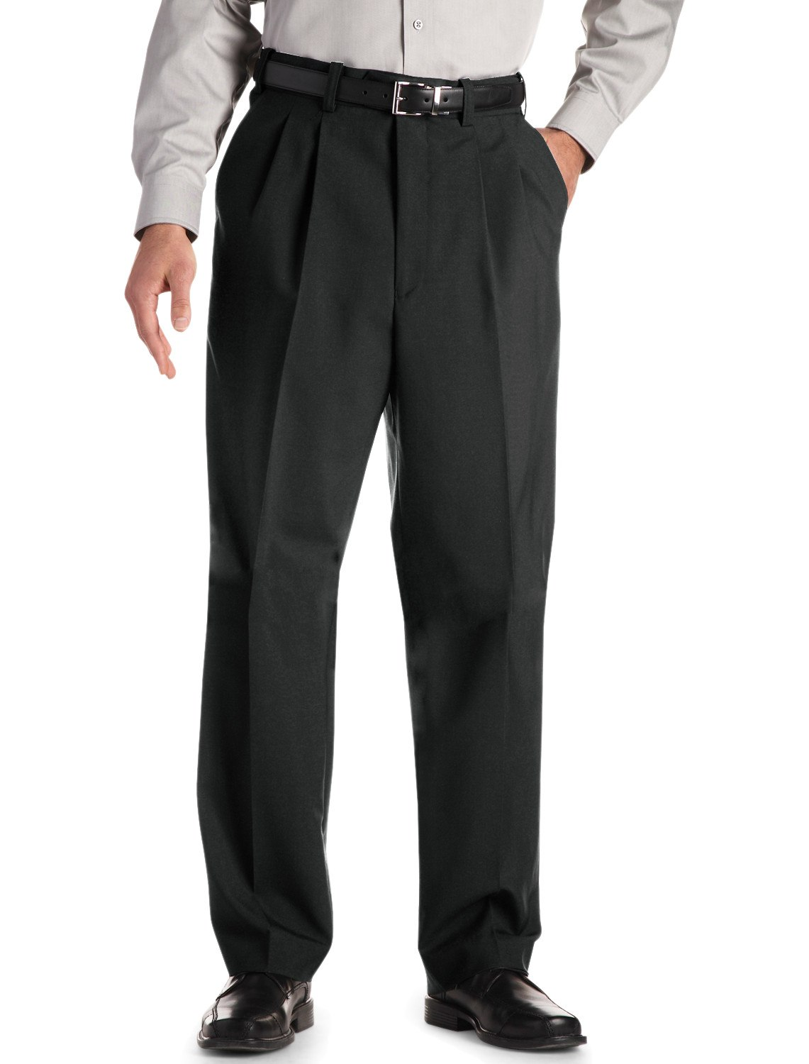 Men's Big & Tall Gold Series Waist-Relaxer Unfinished Pleated Suit Pants