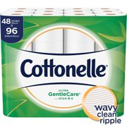 Cottonelle Ultra Gentle Care,Sewer and Septic Safe Flushable Toilet Paper (48 Double Rolls)