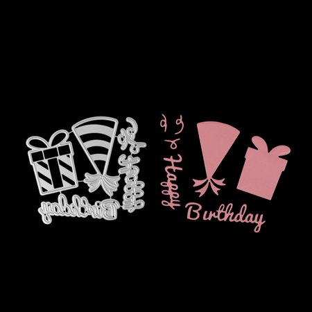 Birthday Theme Carbon Steel Cutting Dies Set Knife Mold Stencils DIY Scrapbooking Die Cuts Decor Crafts Embossing Templates Art Cutter - image 1 of 6