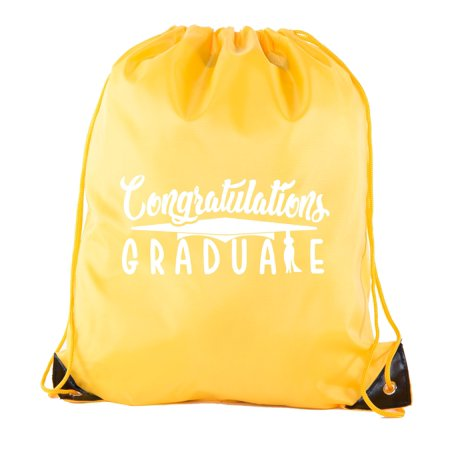 Senior Graduation Drawstring Backpacks Personalized Party Favor Cinch Bags - - Maroon And Gold Graduation Decorations