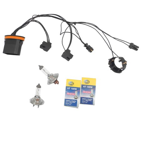 CF Advance For 08-10 Mercedes-Benz C300 C350 C230 C250 Left or Right  Headlight Wiring Harness and H7 100W Headlight Bulb 2008 2009 2010
