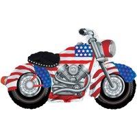 Patriotic Motorcycle Mylar Balloon, each