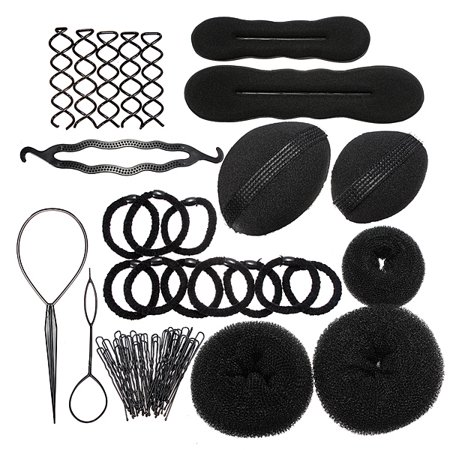 Styling Base Hair Accessory Maker Pads Hairpins Clip Insert Tool Hair Bun Set for Women/Girl ()