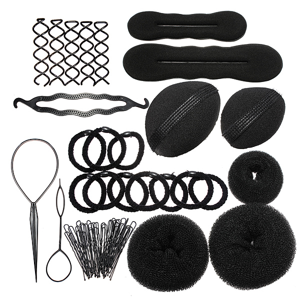 Styling Base Hair Accessory Maker Pads Hairpins Clip Insert Tool Hair Bun Set for Women/Girl