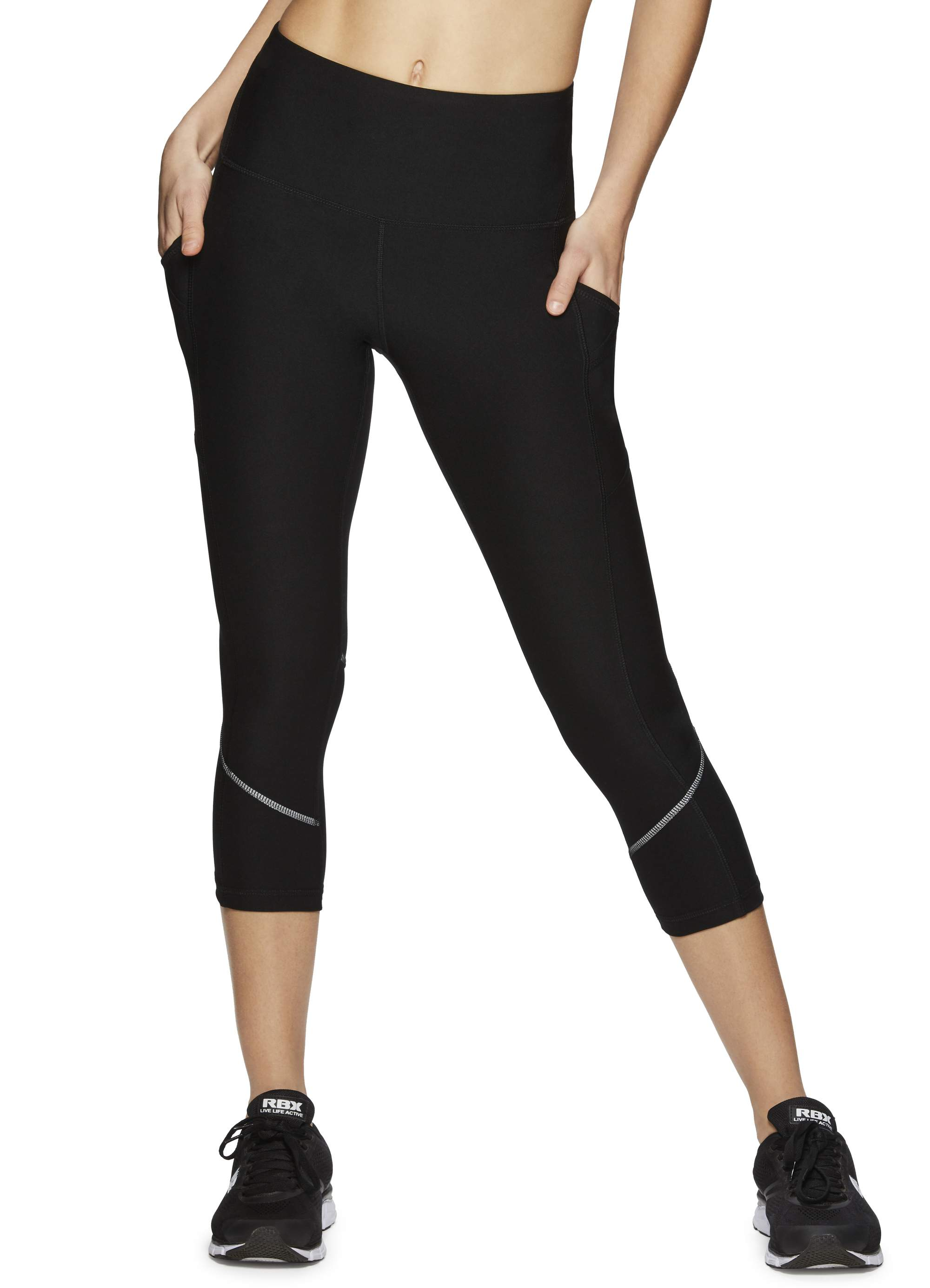 Women's Active P/S Missy Capri Length Legging W/Lacer Cutout