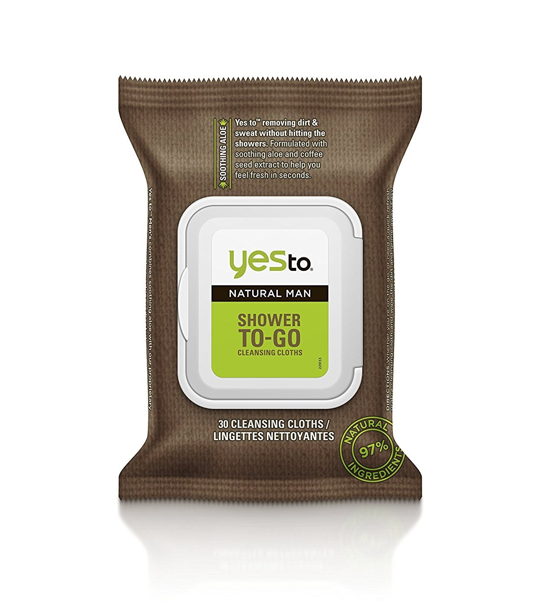Yes To Natural Man Shower To-Go Cleansing Cloths, 30 ct - Walmart.com