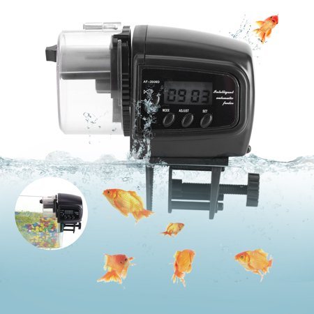 Qiilu Digital LCD Electronic Fish Feeder Dispenser Timer Automatic Aquarium Tank Food Feeding Machine,Fish Feeder, Automatic Fish Dispenser - image 4 of 8