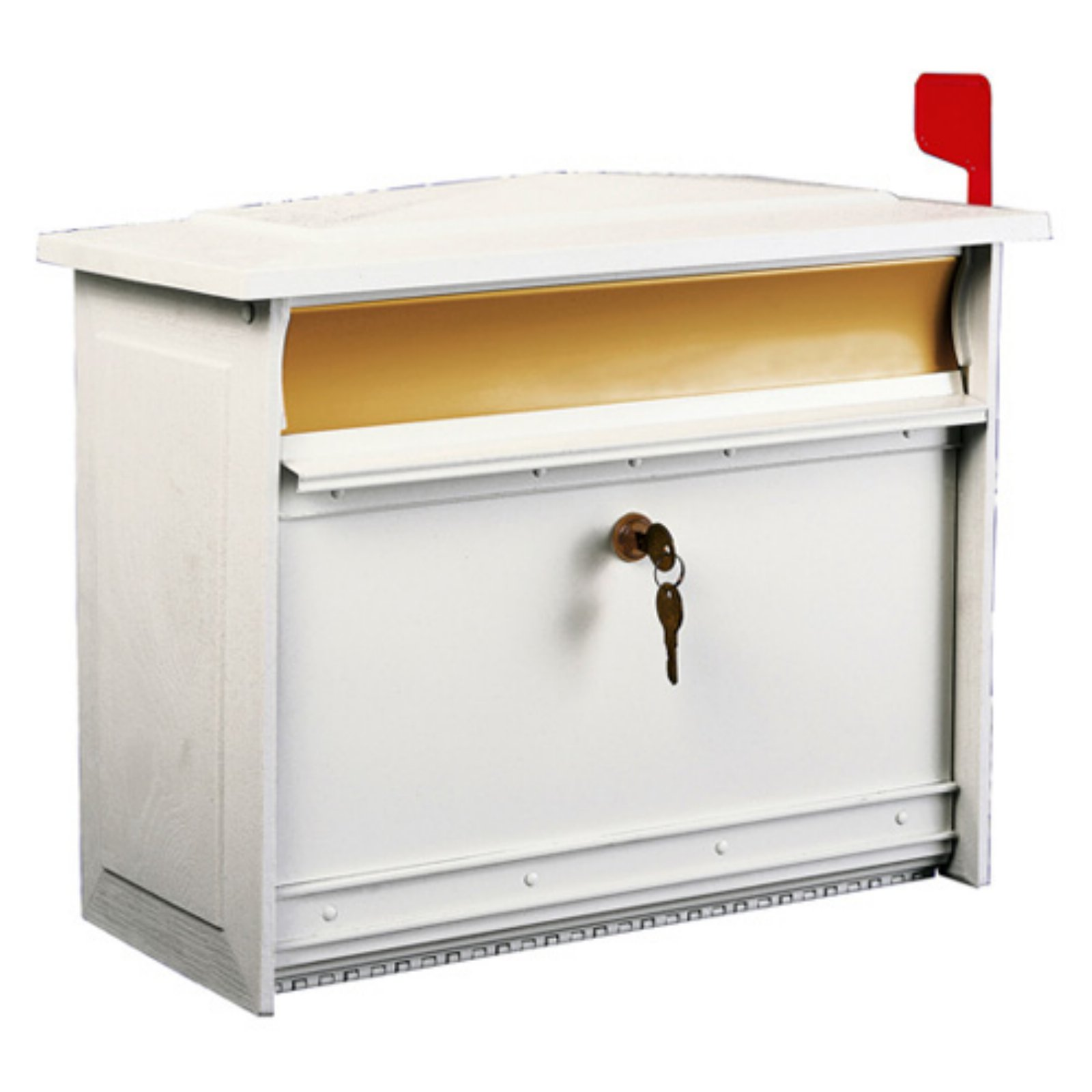 Solar Group Inc MSK0000W Extra-Large White Mailsafe Lockable Security Mailbox by Overstock
