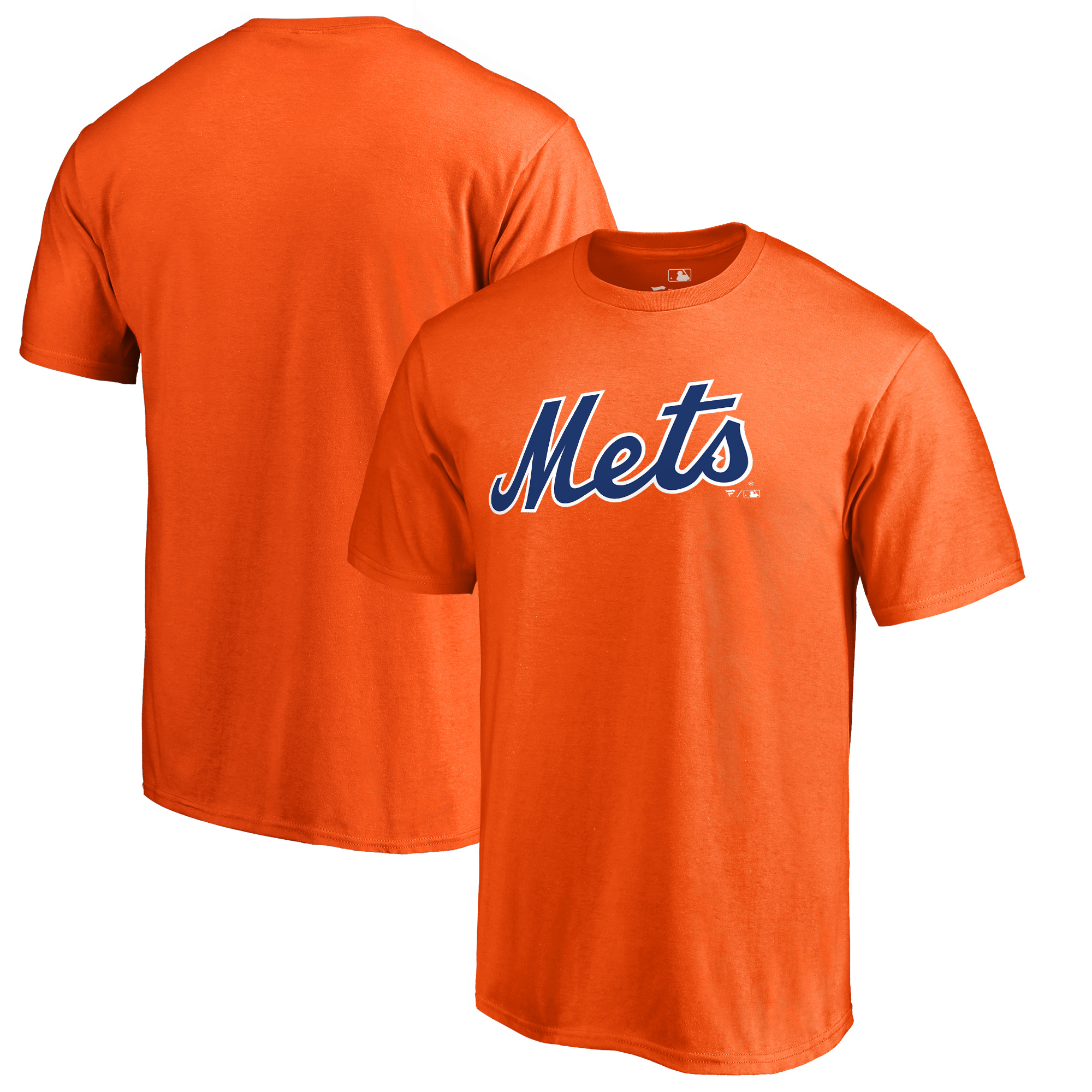 New York Mets Fanatics Branded Team Wordmark T-Shirt - Orange