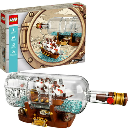 LEGO Ideas Ship in a Bottle 21313](Lego Pirate Set)