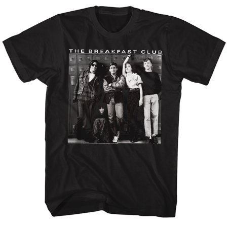 Breakfast Club 1985 Comedy Drama Group Cast Adult T-Shirt Locker 80s Movie (80s Skirts)