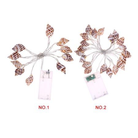 Homeholiday 10/20 LED Conch String Lights Beach Themed Party Battery-powered Bedroom Light Decoration - image 5 of 8