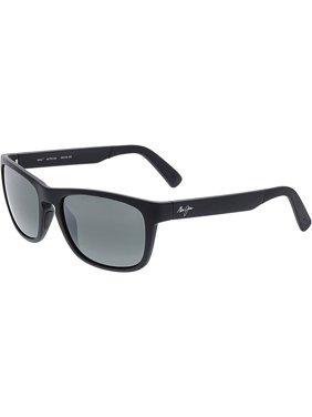 16460ed7260c Product Image Maui Jim Men's Polarized South Swell 755-2M Black Rectangle  Sunglasses