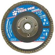 Weiler 804-51126 Type 29 Tiger Paw Angled Flap Discs, 4. 5 inch, 80 Grit, 13,000 Rpm