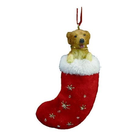 Little Stockings (Santa's Little Pals Golden Retriever Stocking Christmas)