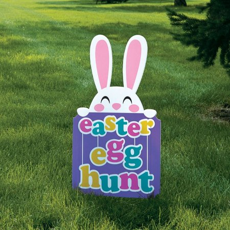Easter Egg Hunt Yard Sign (Easter Yard Sign)